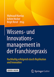 Buchcover Wissens- und Innovationsmanagement in der Franchisepraxis