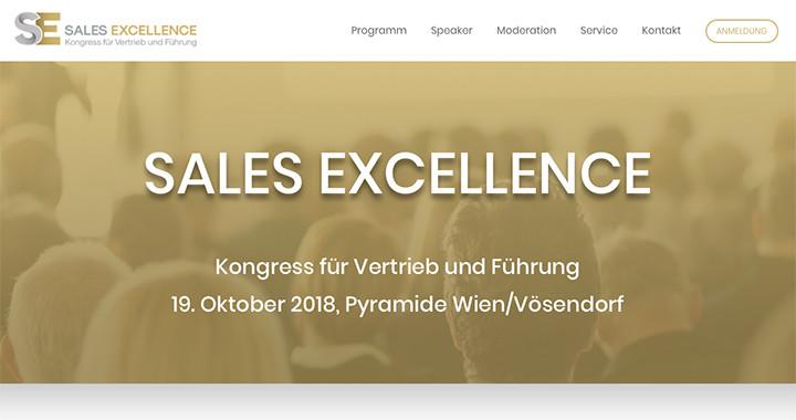 Kongress Sales Excellence für Vertrieb und Führung 19.10.2018 Wien